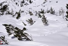 Avalanche Snow Slide In Dolomi...