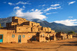 canvas print picture - Ancient dwellings of Taos Pueblo, New Mexico