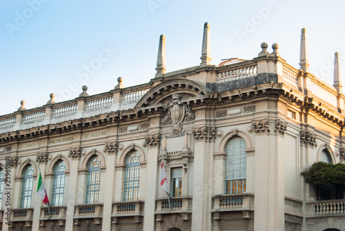 Top Part Of Polytechnic University Building Of Milan Buy This Stock Photo And Explore Similar Images At Adobe Stock Adobe Stock