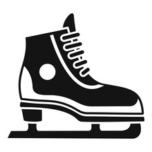 Figure Ice Skate Icon. Simple Illustration Of Figure Ice Skate Vector Icon For Web Design Isolated On White Background