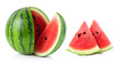 canvas print picture - watermelon isolated on white background