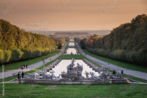 Aluminium Prints Salmon CASERTA, ITALY - SEPTEMBER 24, 2017: Royal Palace of Caserta