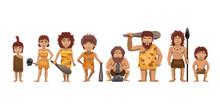 Family Standing Cartoon Vector...