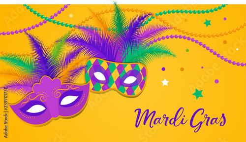 Stampa su Tela Mardi Gras - Fat Tuesday Carnival celebration template