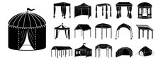 Canopy Icon Set. Simple Set Of...