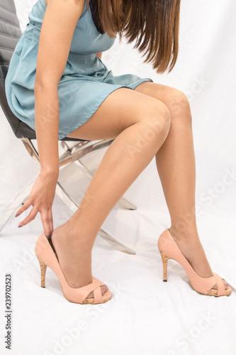Pantyhose legs porn galley