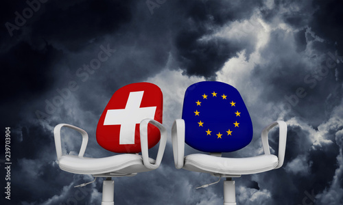 Cuadros en Lienzo Switzerland and Europe business chairs