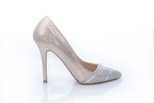 Female High Heel Shoes Isolated On White Background