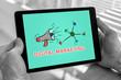 Digital marketing concept on a tablet