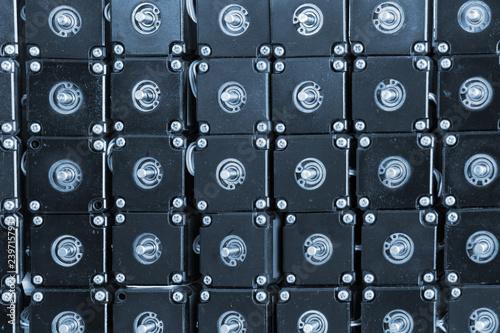 Fotografie, Obraz  Stepper motors closeup image, industrial background