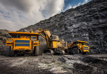 Coal Dumpers In A Coal Mine For Coal Loading