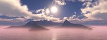 Volcanic Island At Sunrise, An...
