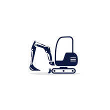 Excavator Mini Icon. Digger Il...