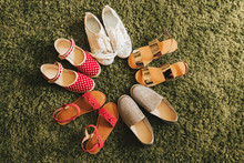 Diversity Of Summer Shoes Collection For Little Girl