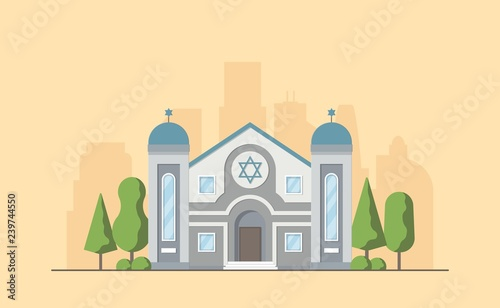 Slika na platnu Synagogue