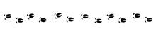 Pig Tracks - Isolated Black Icon Vector Illustration On White Background.