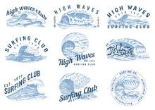 Wave Labels, Logos. Set Of Atl...