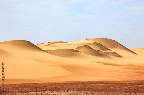 Obraz The desert in Paracas in Peru. Sun sea and sand - fototapety do salonu