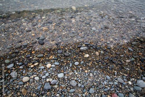 Photo  wet shoreline