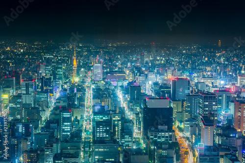 名古屋テレビ塔の夜景 Fototapeta