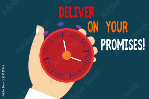 Text sign showing Deliver On Your Promises Canvas Print