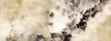 Fototapeta Animals - Dusty Wildebeest River Crossing Web Banner