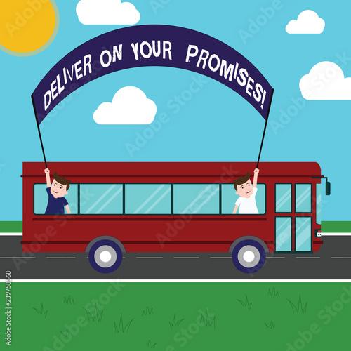 Fotografie, Obraz  Text sign showing Deliver On Your Promises