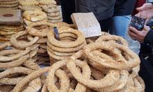 Greek Bagels (koulouri) At Street Vendor