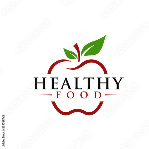 healthy food logo Template - 239768762