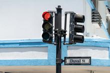 Closeup Of Duval St Street Roa...