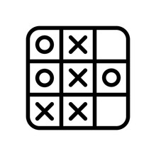 Tic Tac Toe Game, Linear Outli...