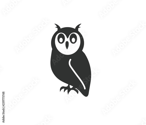 Photo Stands Owls cartoon Owl black vector icon