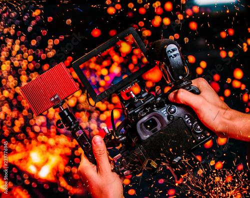 Fototapeta Fire Camera Angle