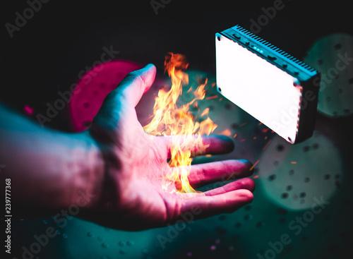 Fotografia, Obraz Fire Light