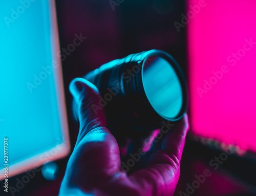 Valokuva  Camera Lens Neon