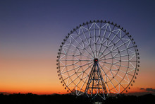 Ferris Wheel In The Sky Of Sun...
