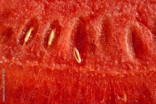 Querschnitt durch eine Wassermelone
