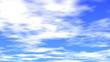 青空と動く雲