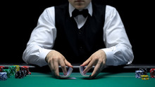 Casino Dealer Making Shuffling...