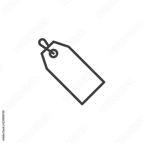 Price tag outline icon  linear style sign for mobile concept