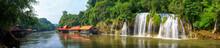 Panoramic Beautiful Waterfall In Thailand