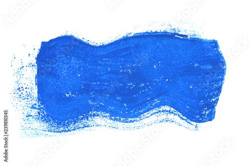Blauer gemalter Fleck in Wellenform © kebox