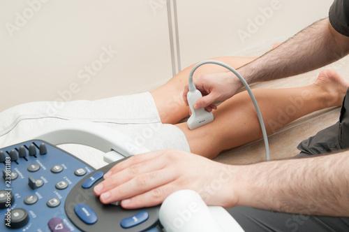Fotografie, Obraz  Ultrasound investigation of veins.