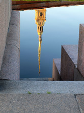 Reflection In The River Of The Peter And Paul Fortress In St. Petersburg