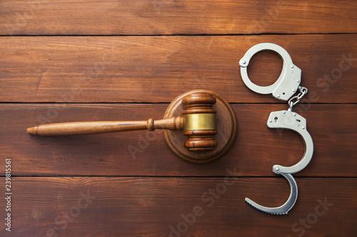 Fotografering  judge with handcuffs