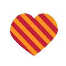 Striped Heart Illustration Background