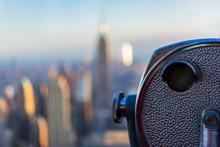 New York City View Of Binocula...