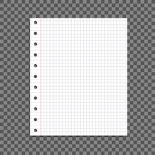 Vector Paper Sheet Isolated On Dark Transparent Background With Shadow, Design Element.