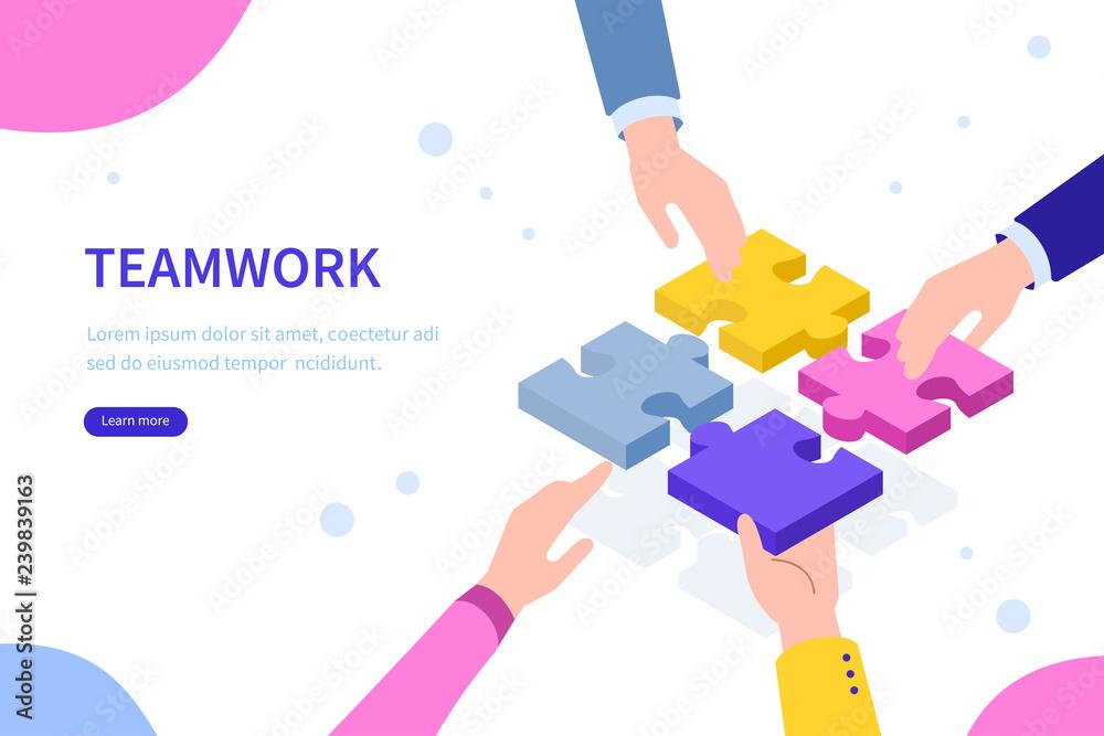 Fototapeta teamwork concept
