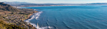 Panoramic View Of Ocean And Ci...